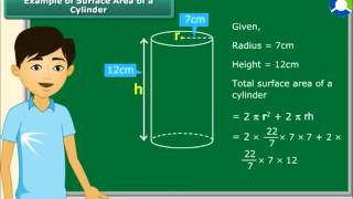 Surface area and volume of a cylinder thumbnail