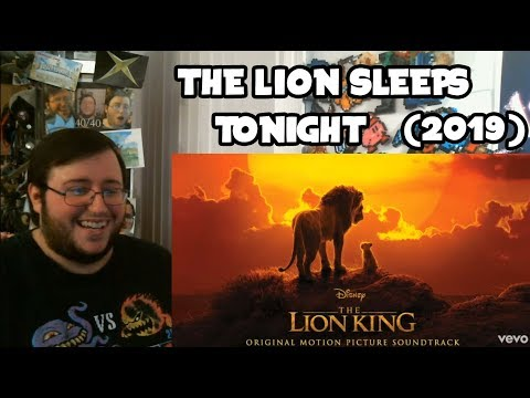 Gors The Lion King (2019) Soundtrack The Lion Sleeps Tonight W/ Billy Eichner, Seth Rogen REACTION