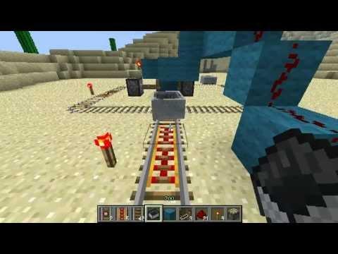 Механизмы Minecraft - Часть 4 - Рельсы. Стрелки.