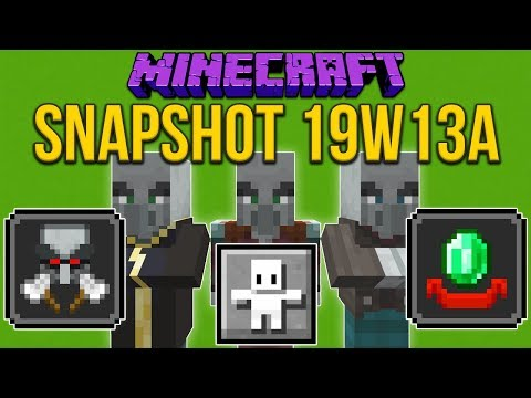 Minecraft 1.14 Snapshot 19w13a Hero Of The Village! Raids Changed!