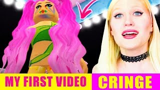 Reacting to my VERY FIRST ROYALE HIGH VIDEO! *CRINGE WARNING*