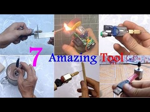 7 Incredible Gadgets You Can Make At Home | Life Hacks DC Motor