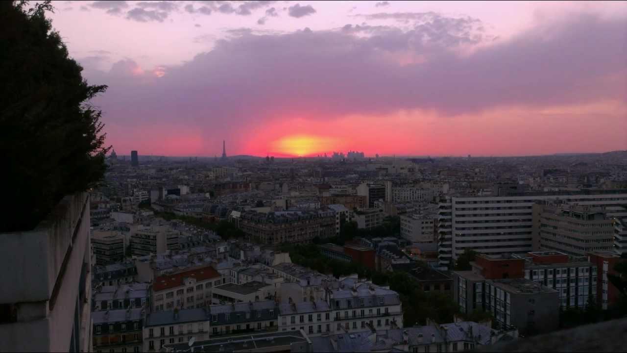 Coucher de soleil sur paris tour eiffel la d fense sunset on paris youtube - Coucher de soleil sur paris ...