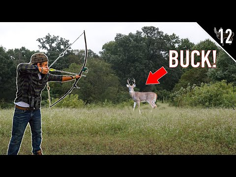 Deer Hunting with a LONGBOW!! (We found a BIG BUCK)