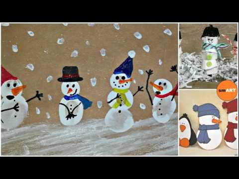 christmas-crafts-for-adults---snowman-crafts