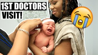 NEWBORN BABY'S FIRST DOCTOR VISIT!   M&G FAMILY VLOG