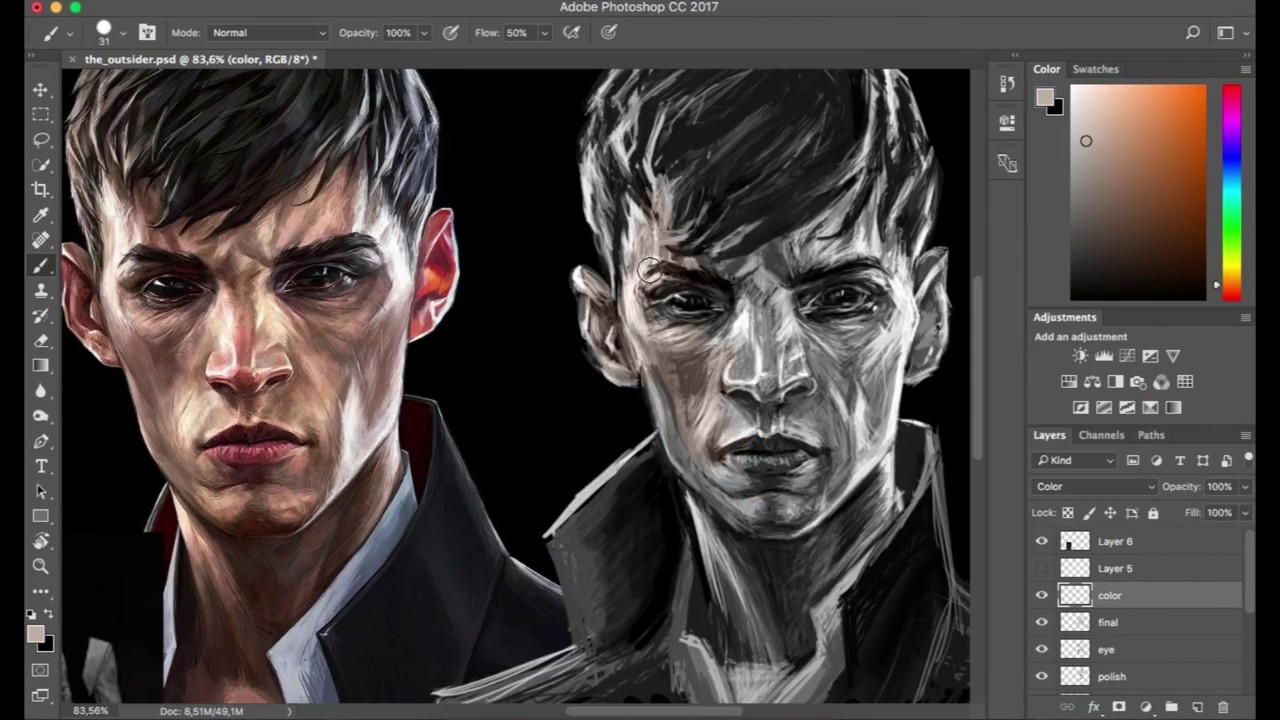 dishonored the outsider painting