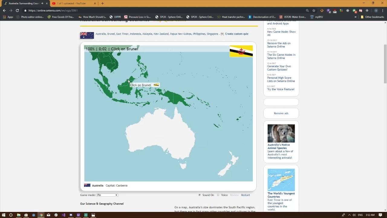 Australia Map Quiz Online.Seterra Map Quiz Australia And Oceania 100 Pin 0 07