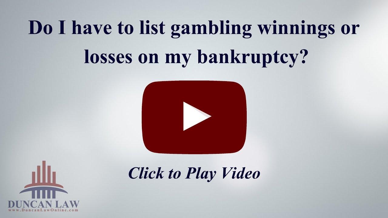 Bankruptcy and gambling losses portable casino tables