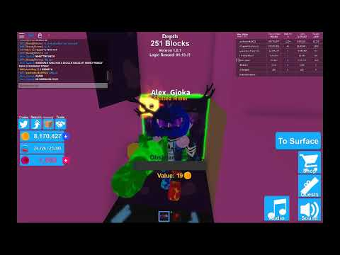 Roblox Mining Simulator Shadow Stone Finding Shadow Stone Roblox Mining Simulator Youtube