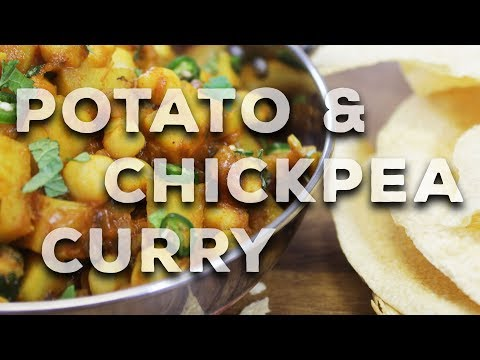 Chickpea & Potato Curry   Quick Vegan Recipe  - With My Little Kitchen