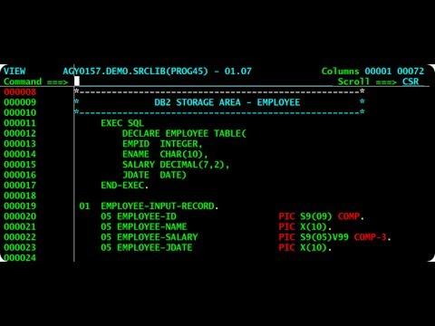 IBM MVS 3.8 - Editing, compiling and executing a Cobol program