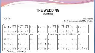 Gambar cover The Wedding (Ave Maria) – Julie Rogers | SATB – Teks Kor Lagu Rohani Pernikahan Not Angka