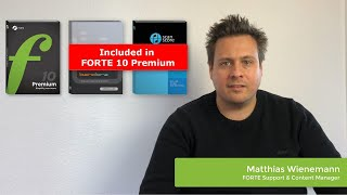 FORTE 10: Discover the New Features of FORTE 10 Premium