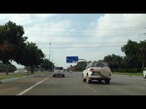 Driving thru Airport Road to Abu Dhabi with Abu Dhabi Classic FM on Radio