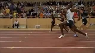 ▶ 100m USAIN BOLT SLOW MOTION ART OF SPRINTING FASTEST MAN