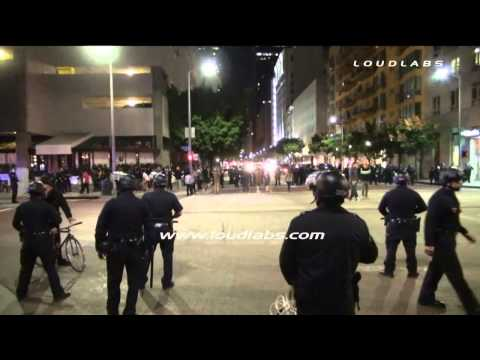 Protesters Arrested in Downtown / Los Angeles   RAW FOOTAGE