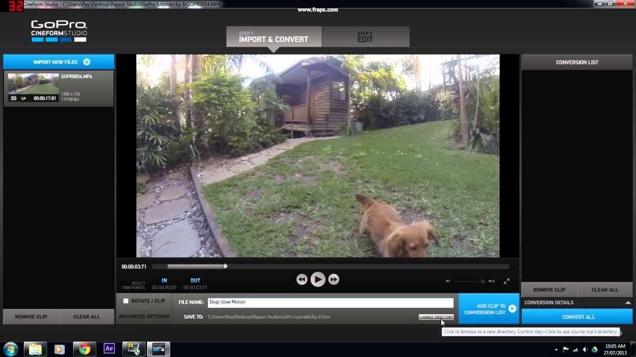 Slow Motion Tutorial Using Free Software : GoPro Tutorial ...