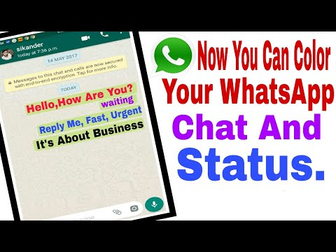 How To Change WhatsApp Chat Color and Status Colors, Top Android App WhatsApp New Update August 2017