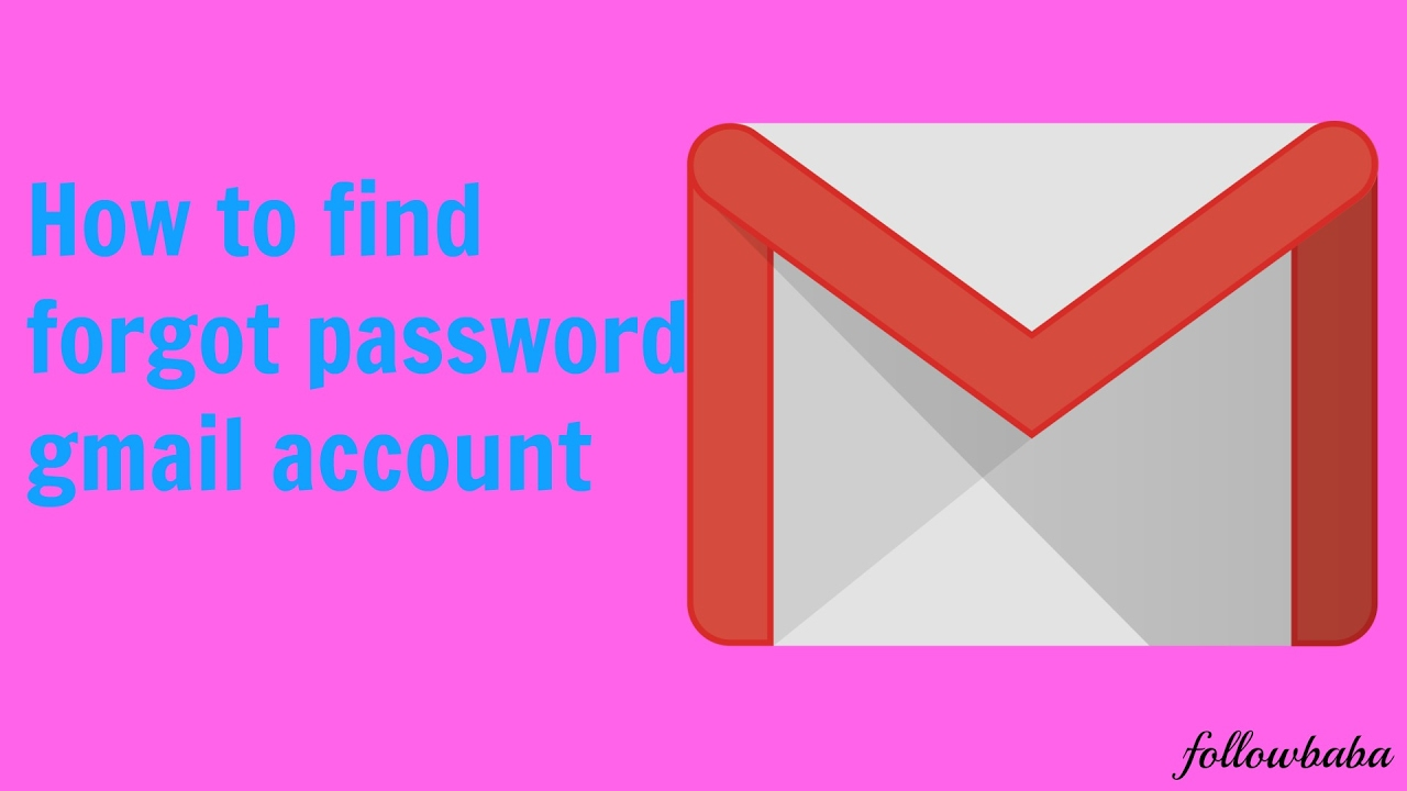 how to find gmail account forgot password
