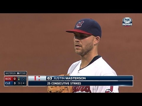 Masterson throws 25 consecutive strikes