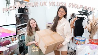 pack with us.. UK vs USA Swap box. What we put in..