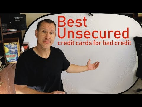 best-unsecured-credit-cards-for-bad-credit-2019