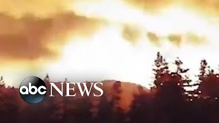 Windy Fire timelapse footage | #shorts | ABC News