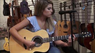 Art Nouveau Acoustic / Electric - All Solid Wood Guitar