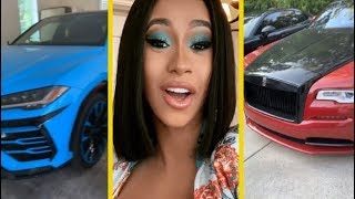 Cardi B & Offset Shows Off Multi-Million Dollar Car Collection!