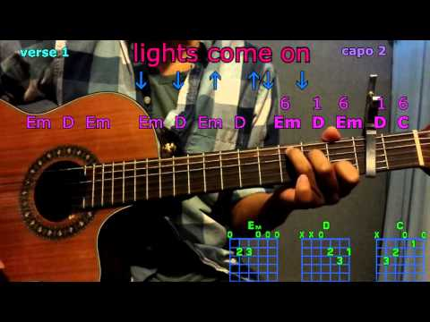 lights come on jason aldean guitar chords