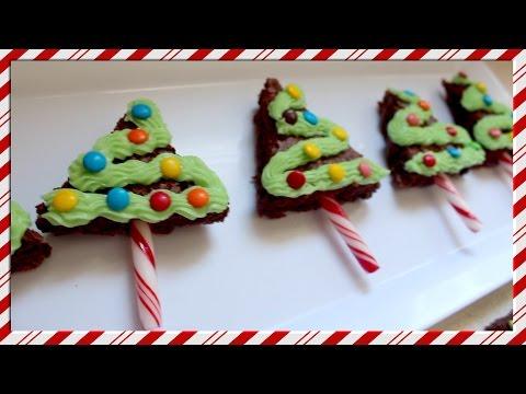 DIY Brownie Christmas trees | #vlogmas