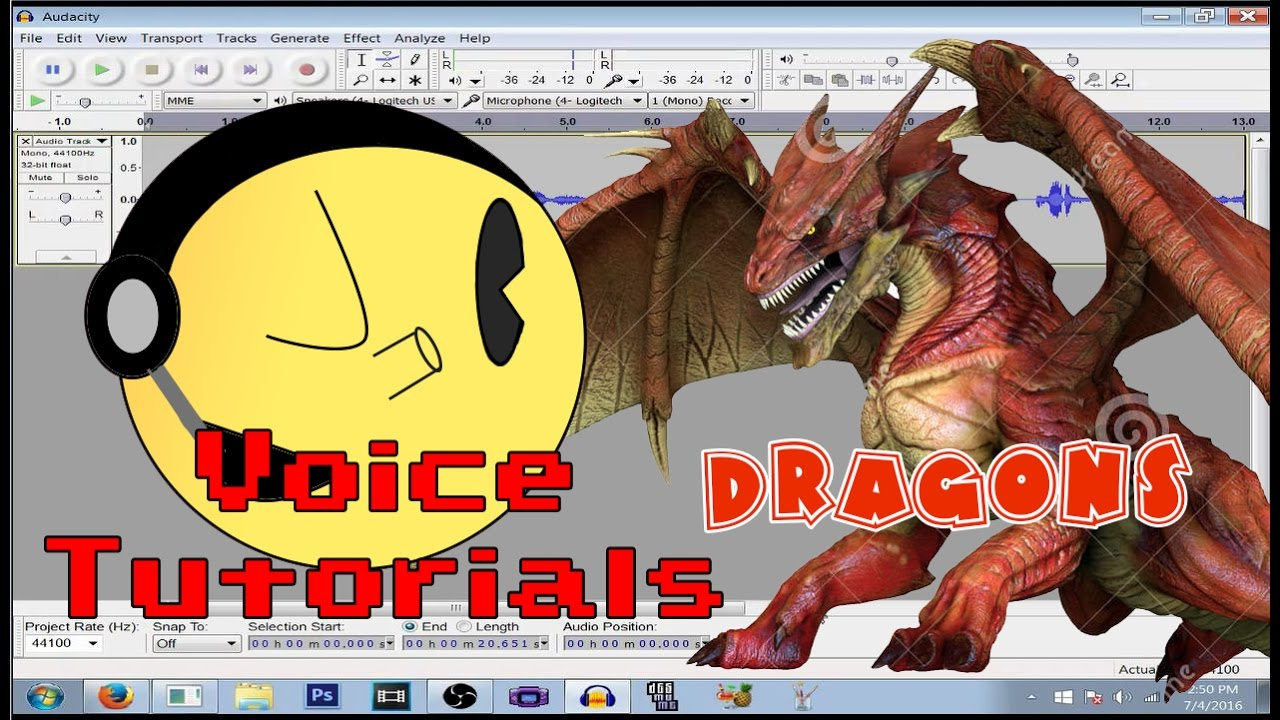 audacity voice effects tutorials dragon youtube. Black Bedroom Furniture Sets. Home Design Ideas