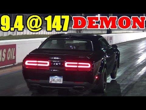 1000 HP Whippled Dodge Demon - 9.41 @ 147 mph - 1/4 Mile Drag Race Video - RoadTest®