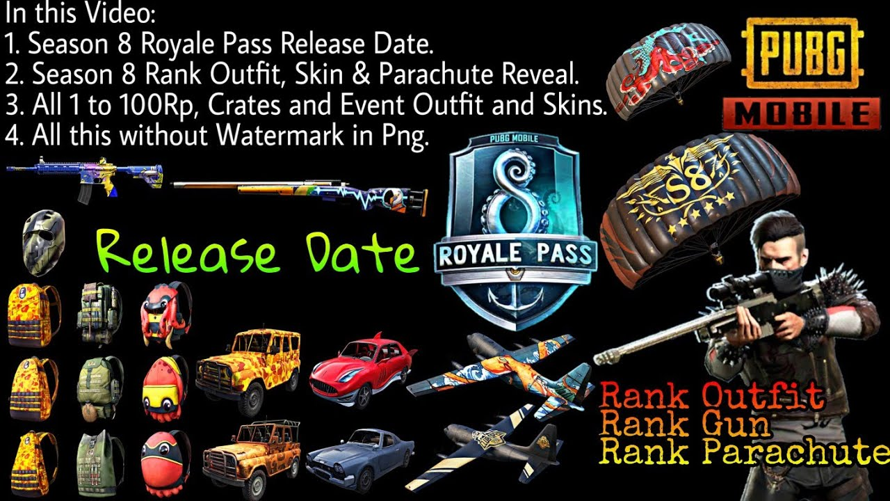 Pubg Mobile Season 8 Royale Pass Release Date All New Outfit And