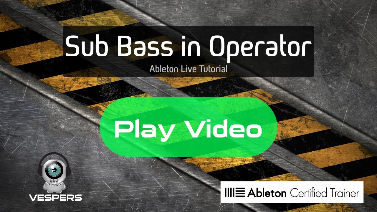 Get Deep: Make a Sub Bass with Operator | Ableton