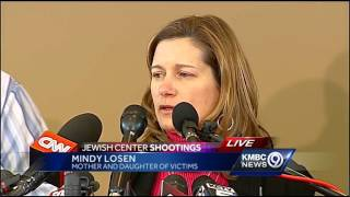 Woman describes finding father, son shot in parking lot