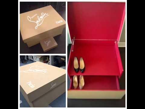 christian louboutin shoe box dourado