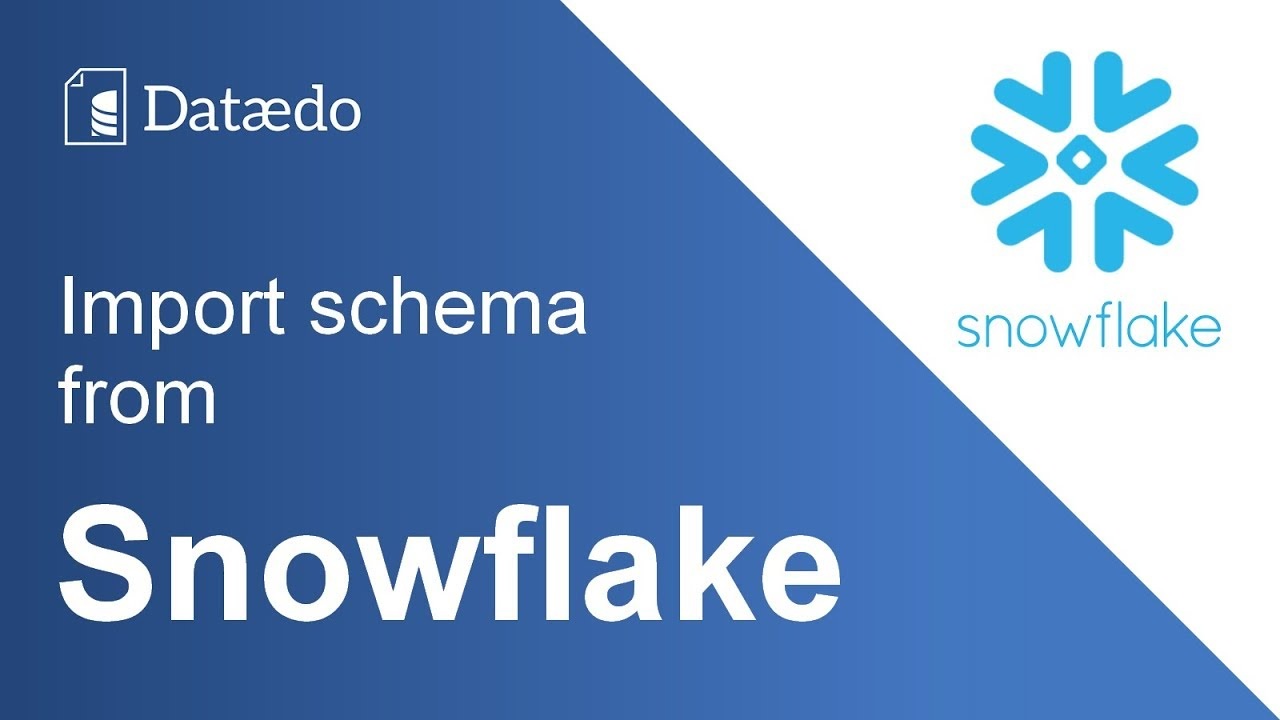 Connecting to Snowflake database - Dataedo Documentation