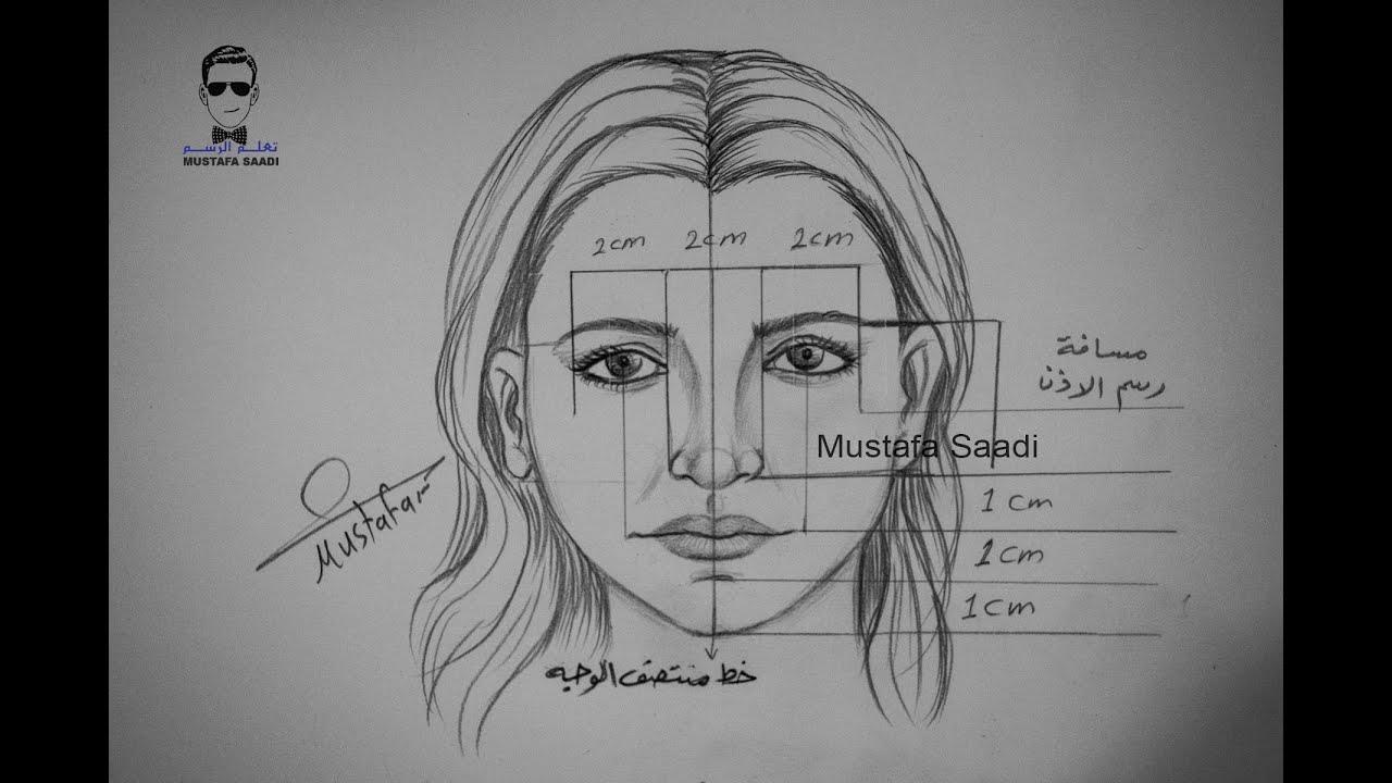 نسب الوجه تعلم رسم الوجه خطوة بخطوة للمبتدئين Youtube