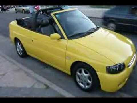 ford escort cabriolet amarillo yellow youtube. Black Bedroom Furniture Sets. Home Design Ideas