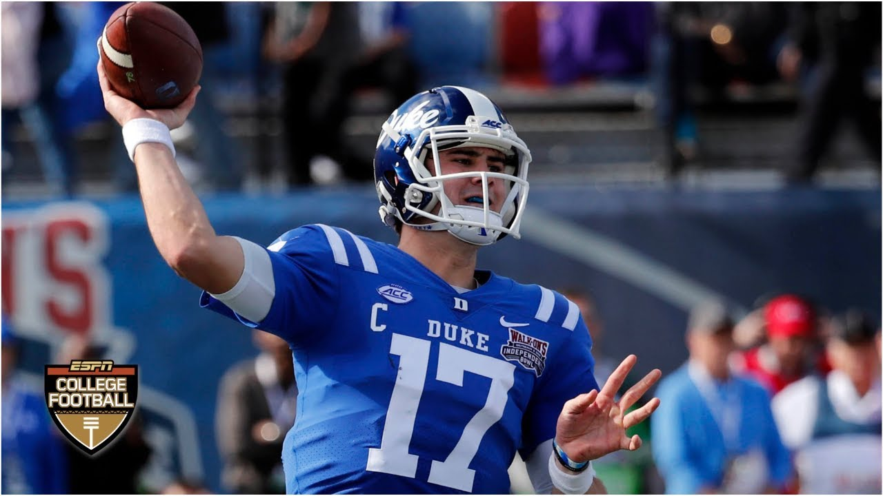 While he only missed two games, there are many reports that he. Daniel Jones accounts for 6 TDs as Duke throttles Temple ...