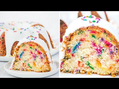 Funfetti Bundt Cake (A Cake Mix Based Recipe)