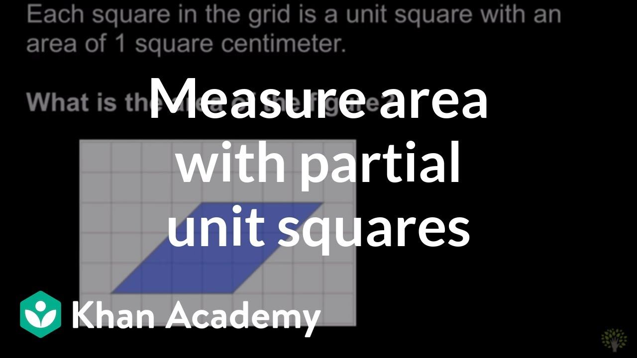 Measuring area with partial unit squares | Math | 3rd grade | Khan ...