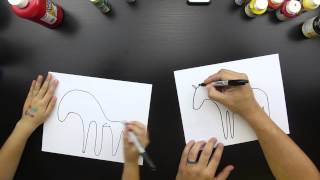 How To Draw A Zebra Just For Kids (medium difficulty)