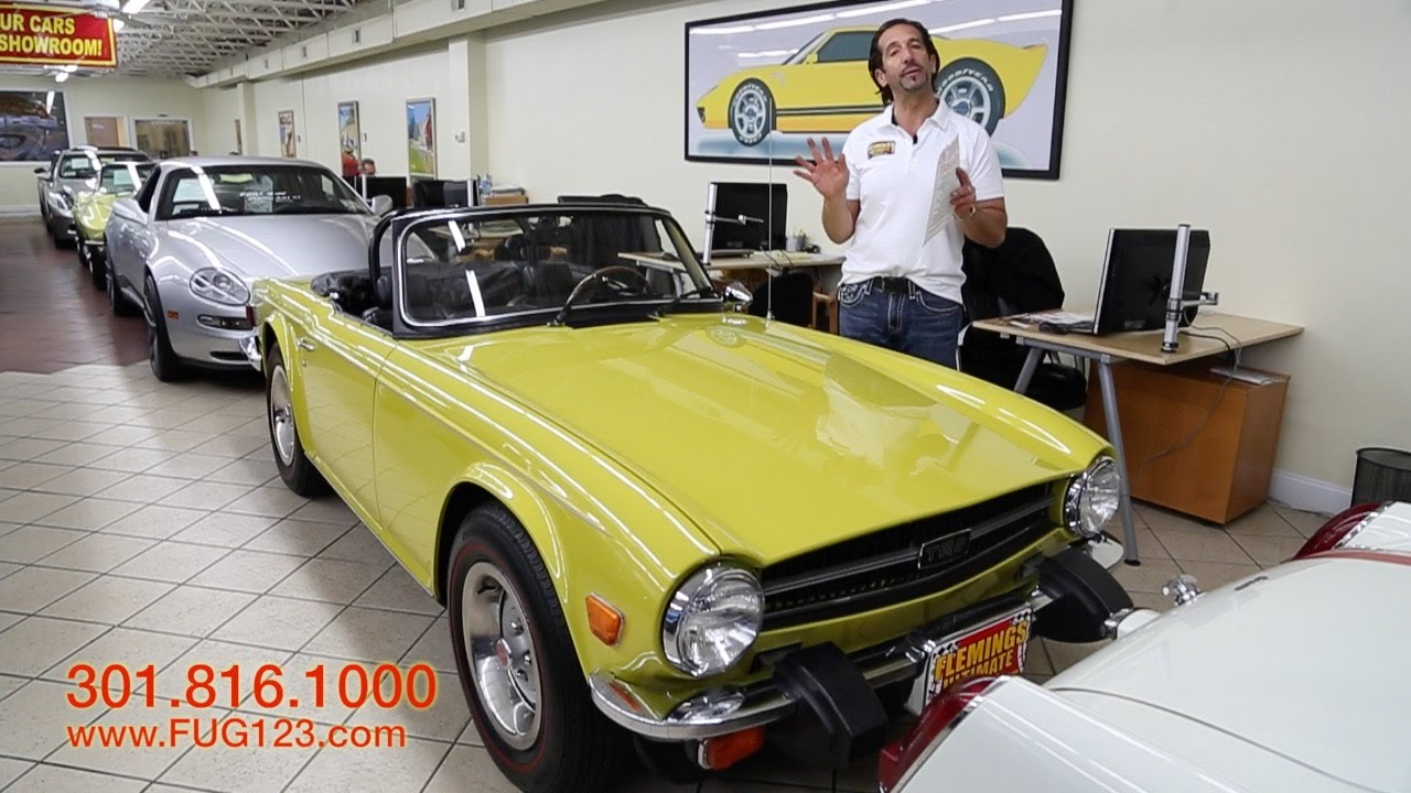 1976 Triumph TR6 for sale with test drive, driving sounds, and walk through  video