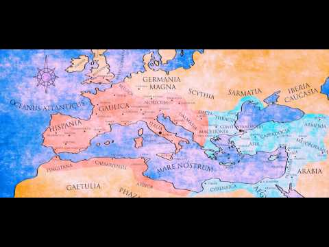 476 A.D. From the beginning of the movie. Roman Map changes animation 117 A.D. - 476 A.D.