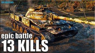 13 фрагов медаль Фадина 🌟 World of Tanks Объект 907