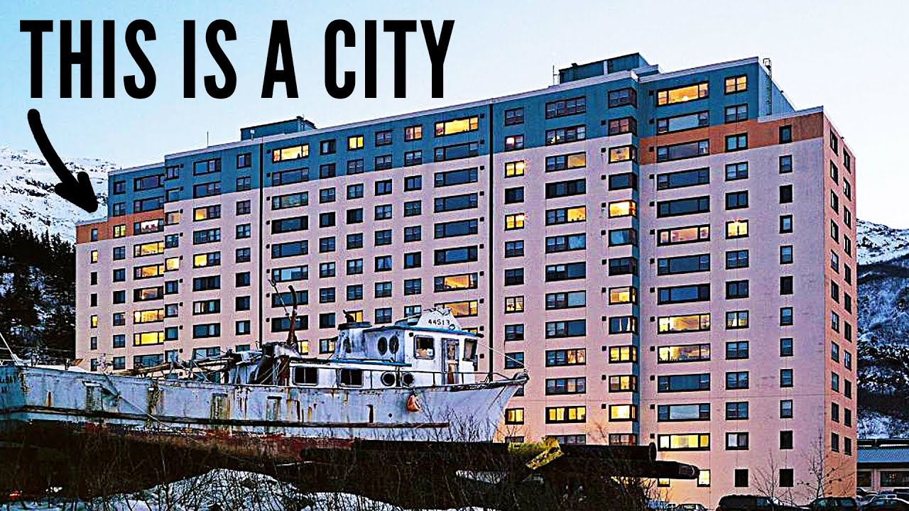 Every person in this city lives in one building youtube for Building a house in alaska