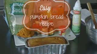 Easy Pumpkin Bread Recipe Thumbnail